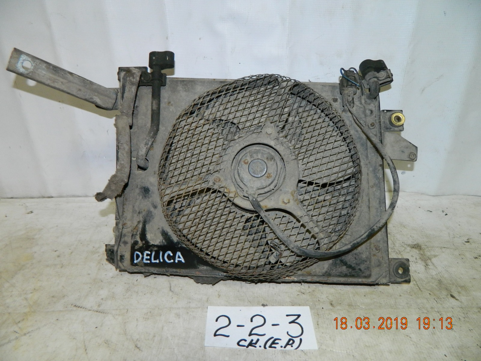 Радиатор двс Mitsubishi Delica PD8W (б/у)