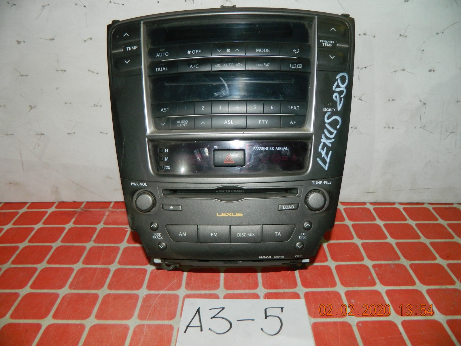 Штатная магнитола Lexus Is250 (б/у)