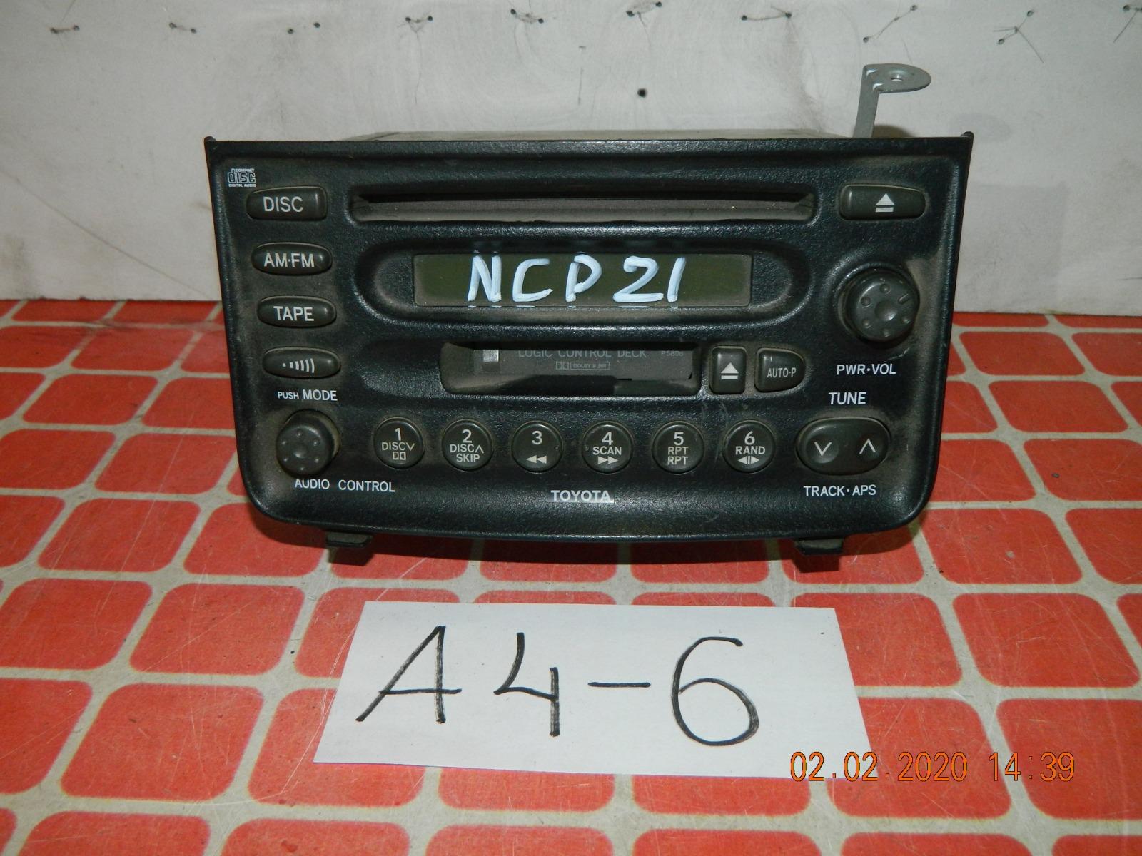 Штатная магнитола Toyota Funcargo NCP21 (б/у)