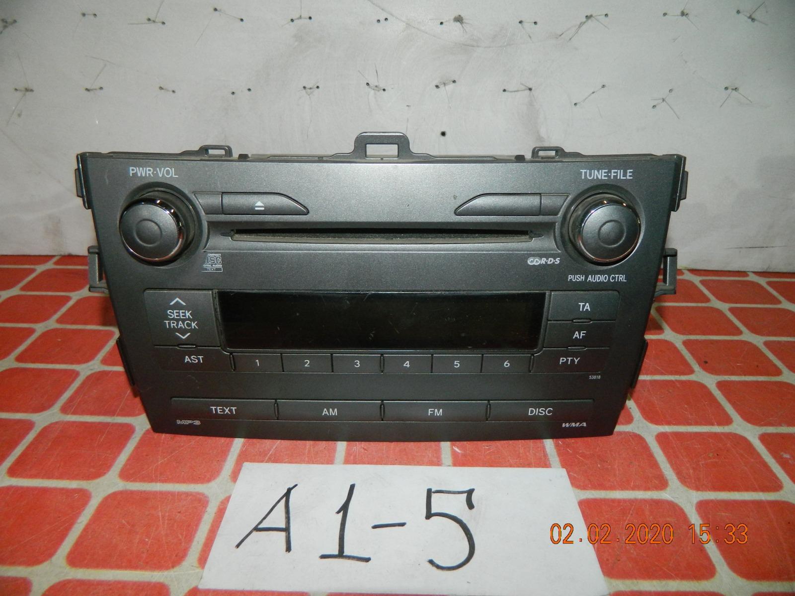 Штатная магнитола Toyota Corolla 150 (б/у)