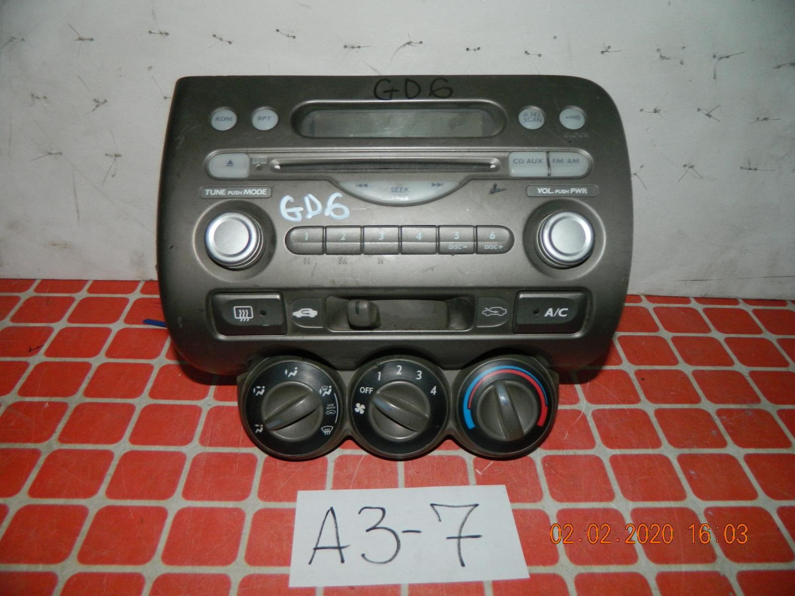 Штатная магнитола Honda Fit GD6 (б/у)