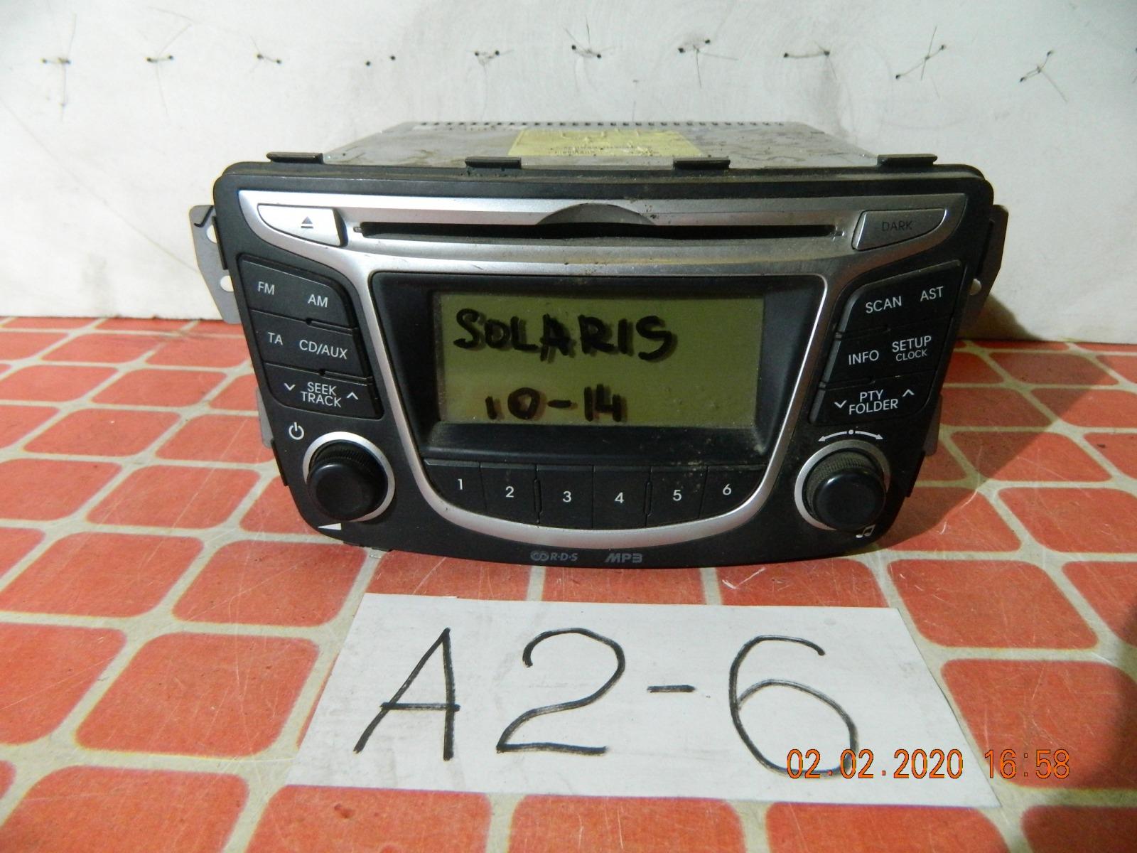 Штатная магнитола Hyundai Solaris (б/у)