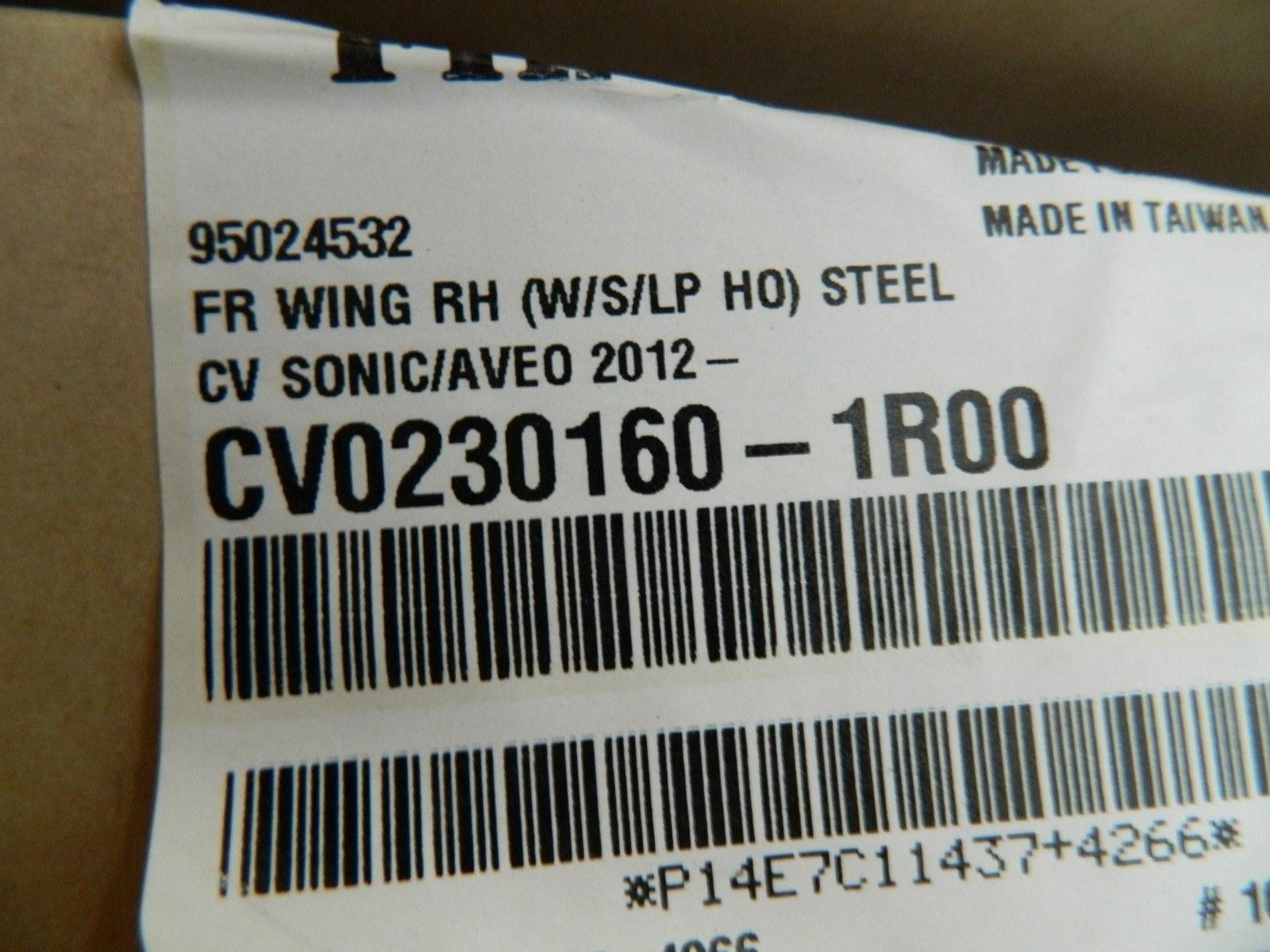 Крыло Chevrolet Aveo T300 2012 переднее правое