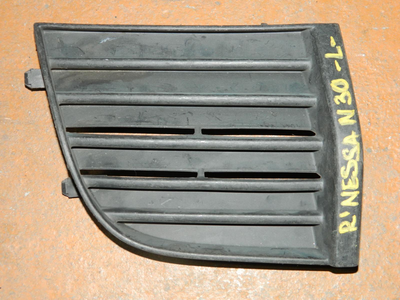 Заглушка противотуманной фары Nissan R'nessa N30 передняя левая (б/у)
