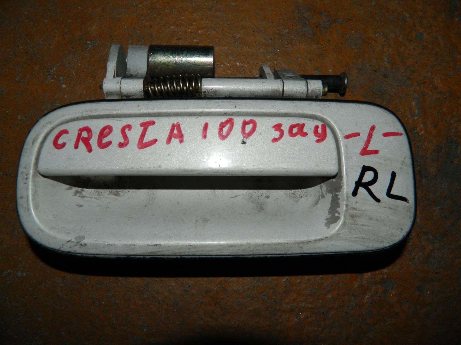 Ручка двери внешняя Toyota Cresta GX100 задняя левая (б/у)