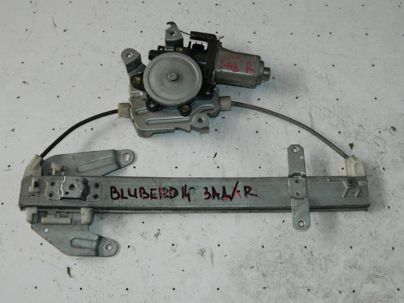 Механизм стекло-подъёмника. Nissan Bluebird B14 задний правый (б/у)