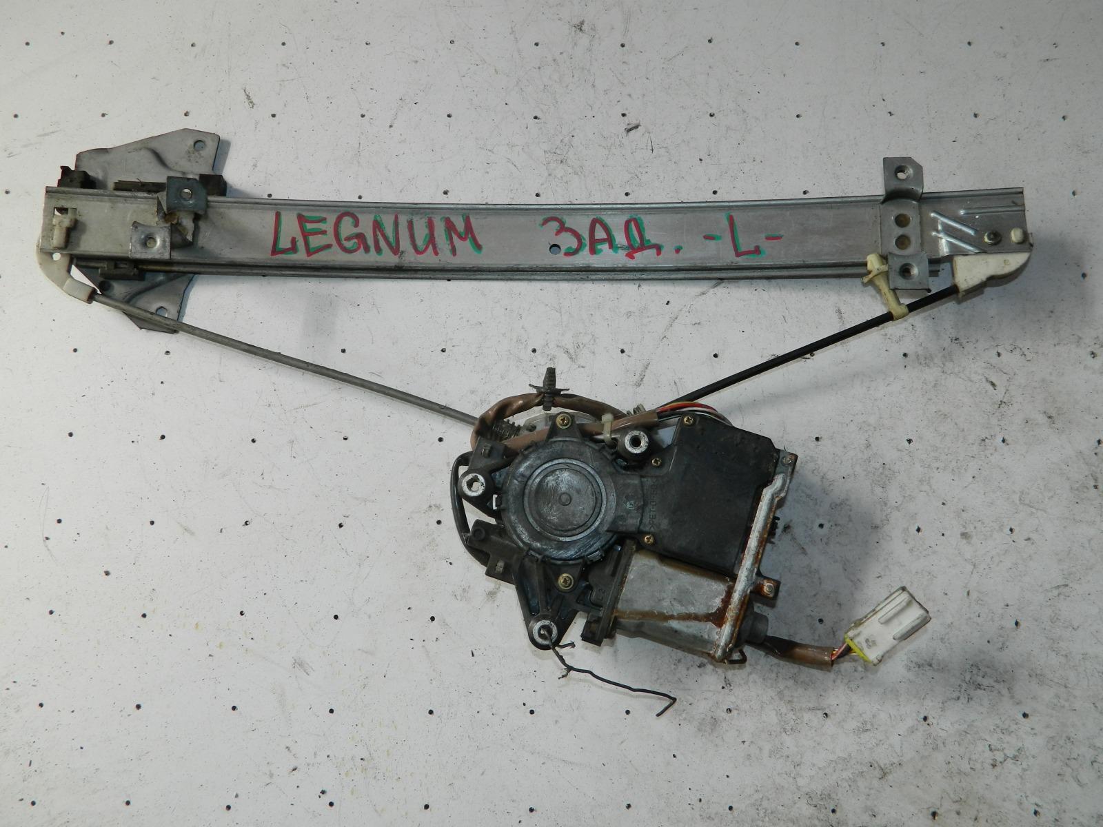 Механизм стекло-подъёмника. Mitsubishi Legnum задний левый (б/у)