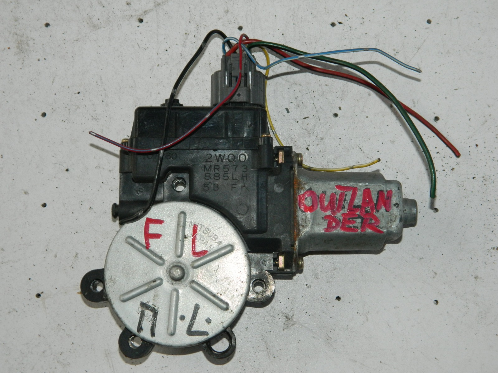 Моторчик стеклоподъемника Mitsubishi Outlander передний левый (б/у)