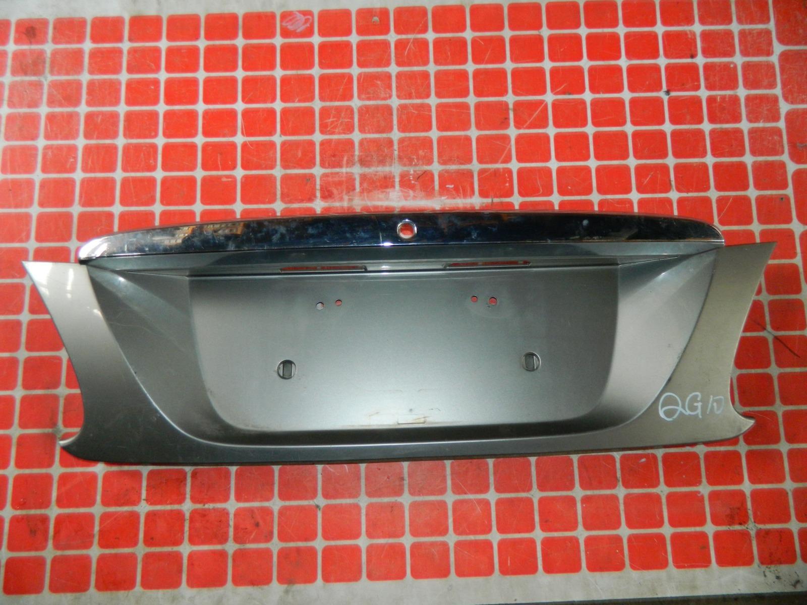 Накладка под номерной знак Nissan Bluebird Sylphy QG10 задняя (б/у)