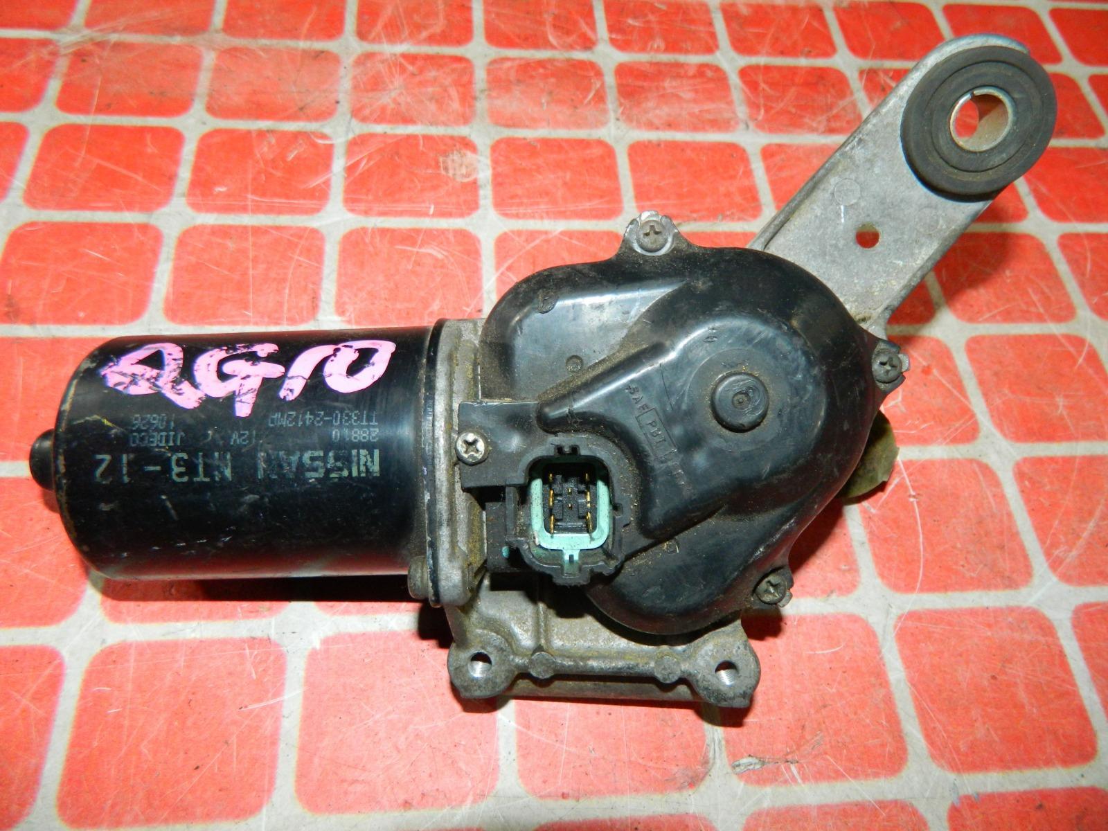 Мотор дворников Nissan Bluebird Sylphy QG10 передний (б/у)