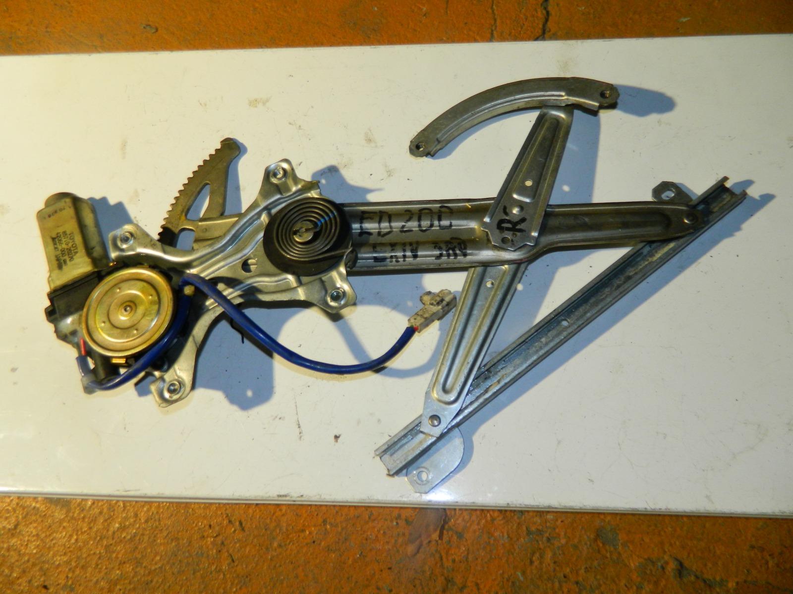 Механизм стекло-подъёмника. Toyota Corona Exiv ST200 задний правый (б/у)