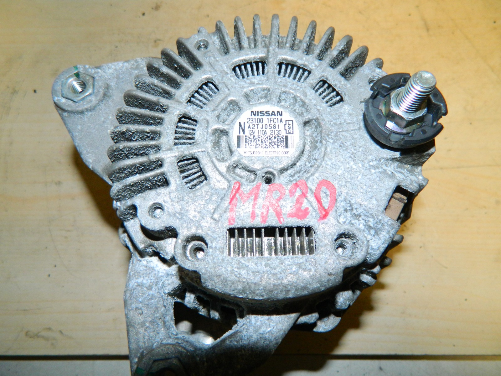 Генератор Nissan Dualis KJ10 MR20DE (б/у)