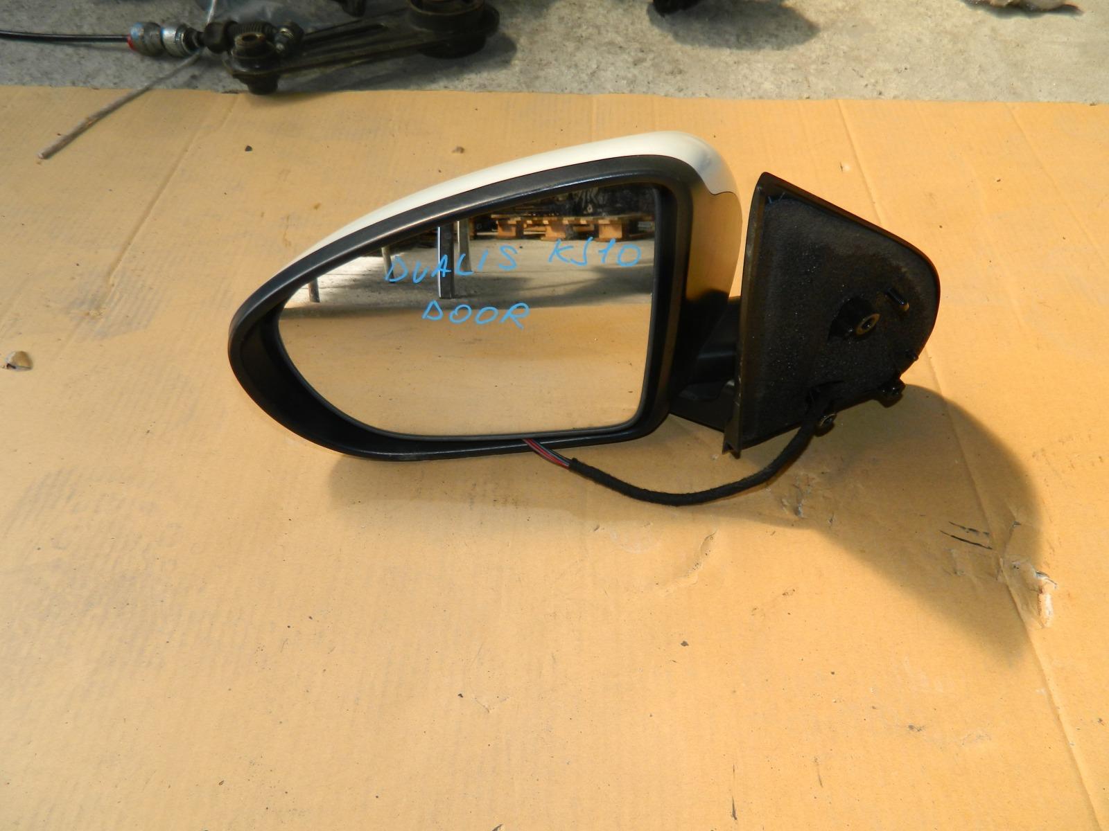 Зеркало заднего вида Nissan Dualis KJ10 MR20DE левое (б/у)