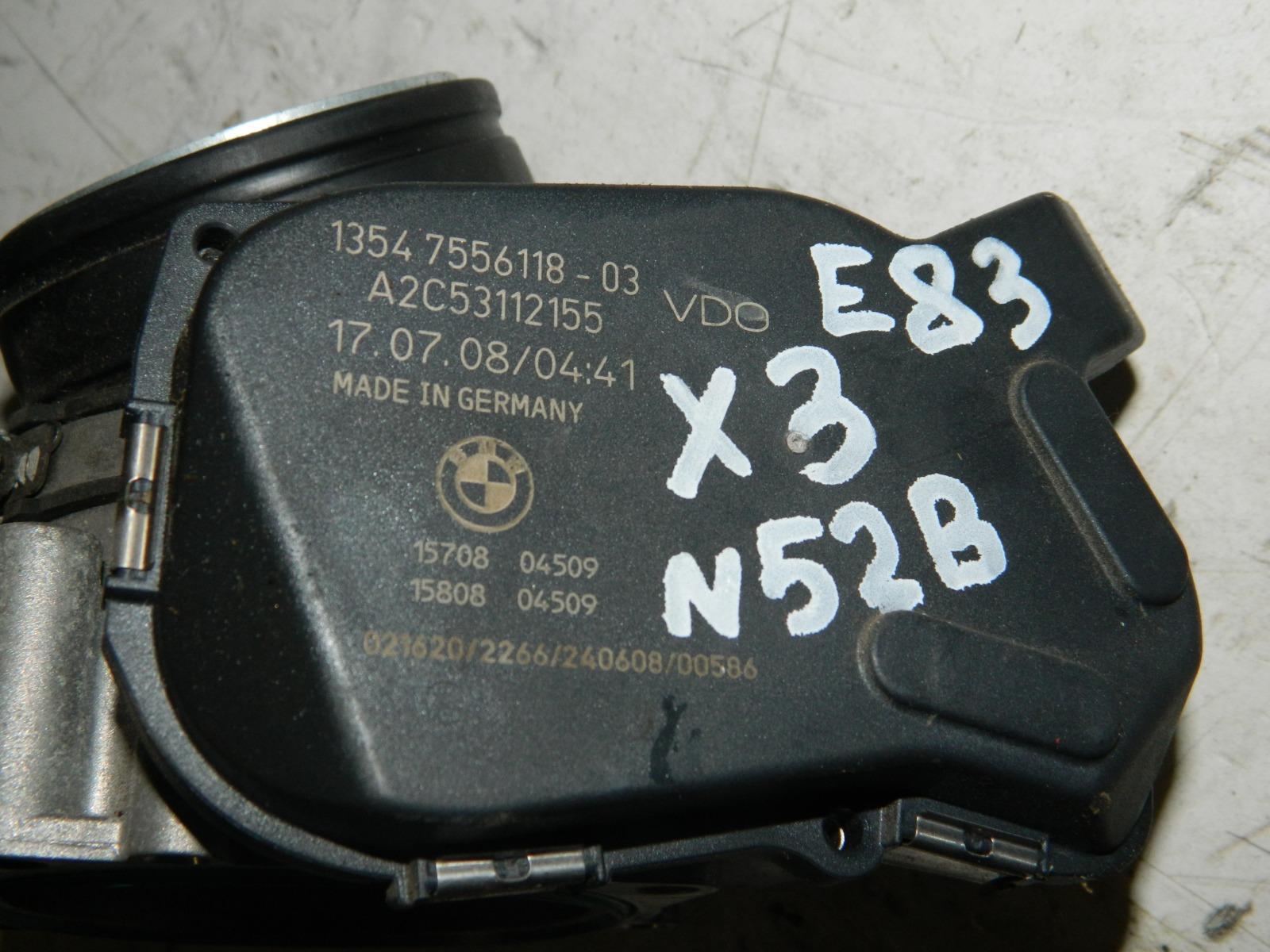 Дроссельная заслонка Bmw X3 E83 N52B25AF (б/у)