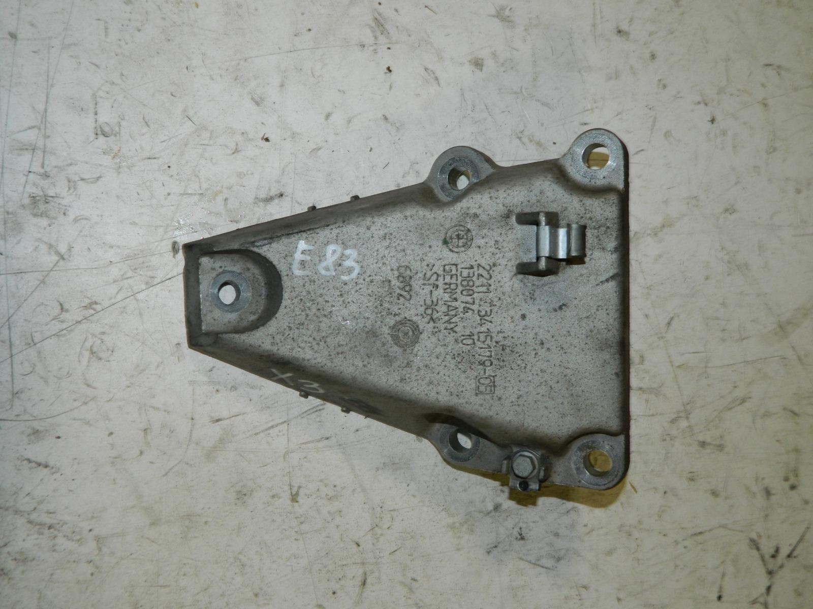 Кронштейн Bmw X3 E83 N52B25AF левый (б/у)