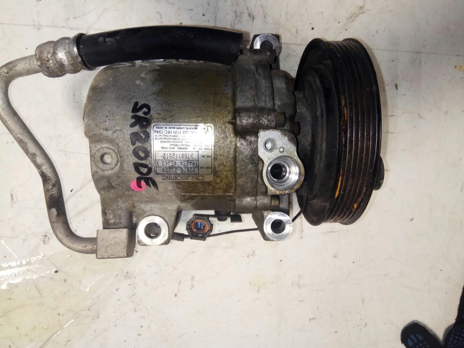 Компрессор кондиционера Nissan Primera P11 SR20DE (б/у)