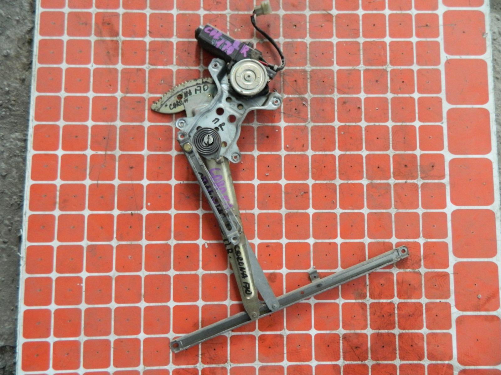 Механизм стекло-подъёмника. Toyota Corona AT170 передний правый (б/у)