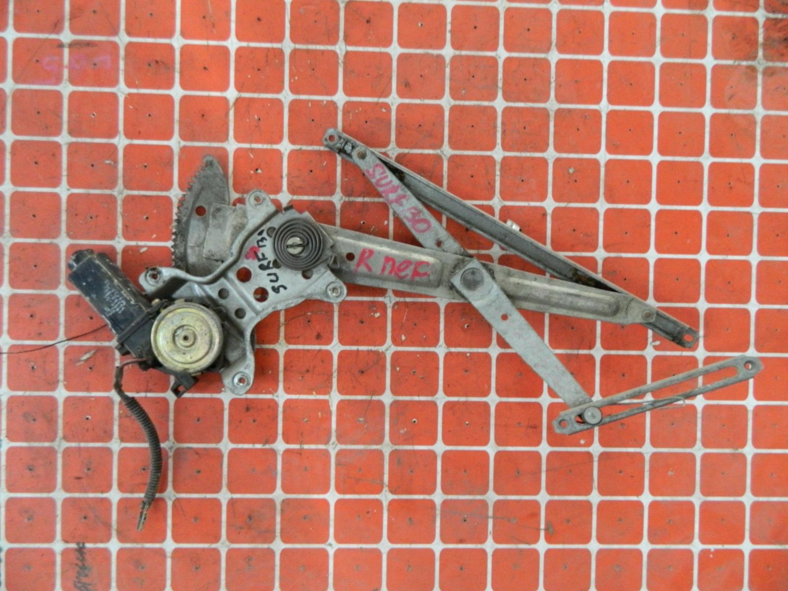 Механизм стекло-подъёмника. Toyota Hilux Surf KZN130 передний правый (б/у)