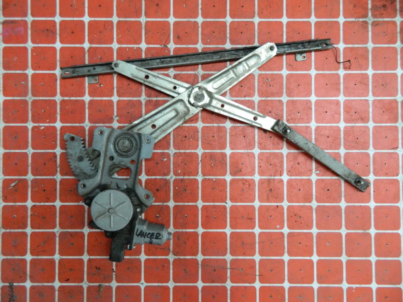Механизм стекло-подъёмника. Mitsubishi Lancer X передний левый (б/у)