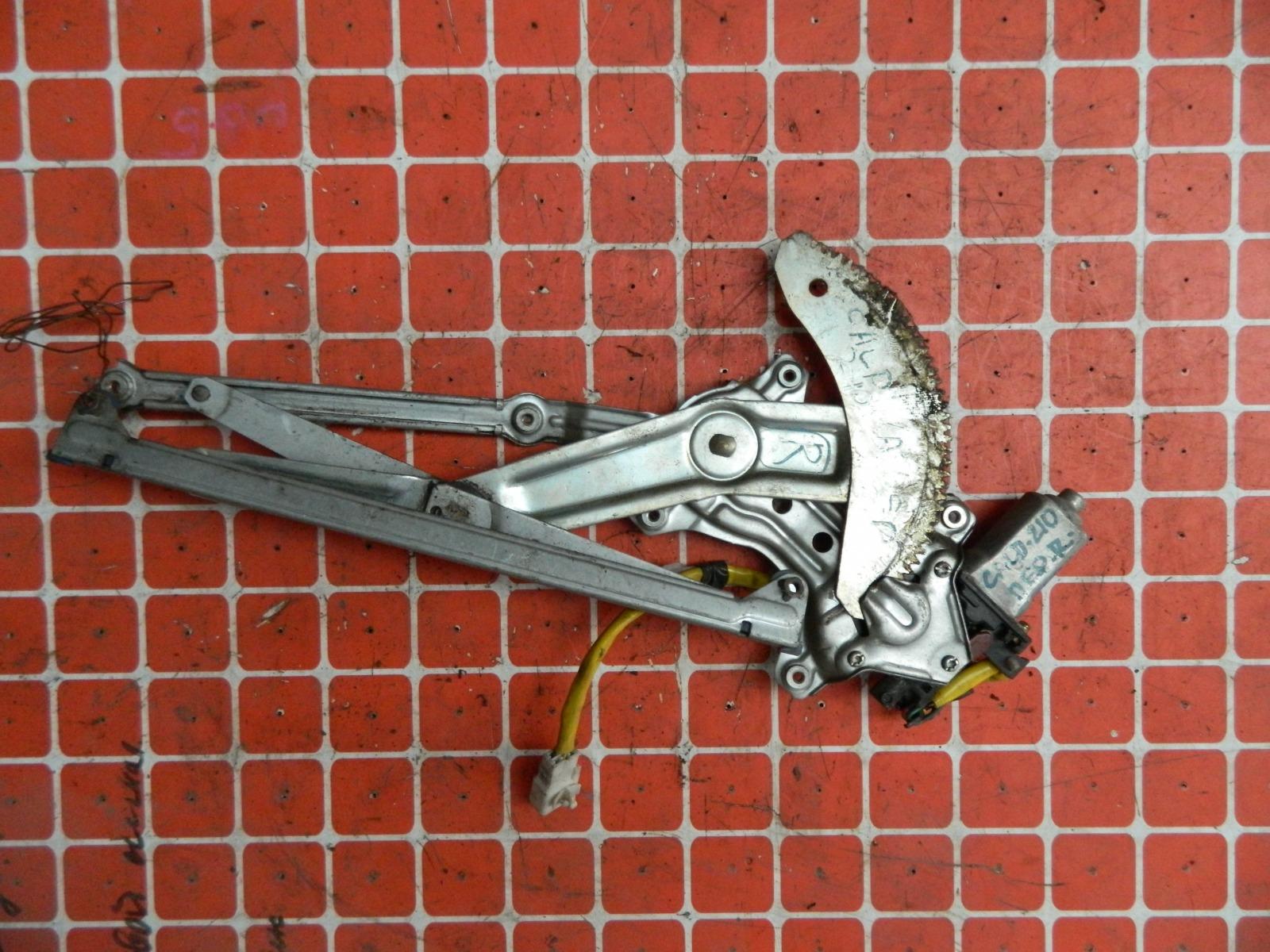 Механизм стекло-подъёмника. Toyota Caldina ST210 передний правый (б/у)