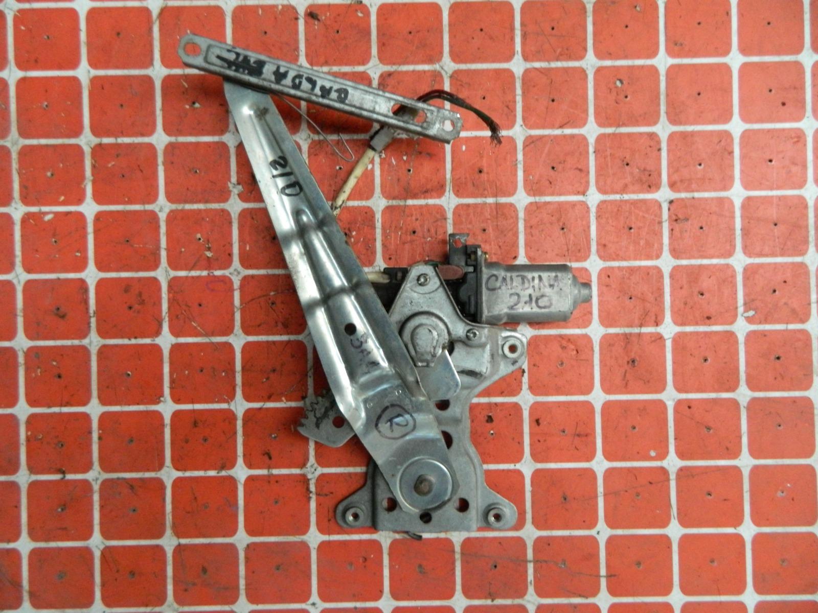 Механизм стекло-подъёмника. Toyota Caldina ST210 задний правый (б/у)