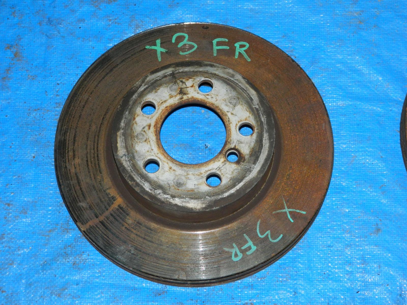 Тормозной диск Bmw X3 передний правый (б/у)