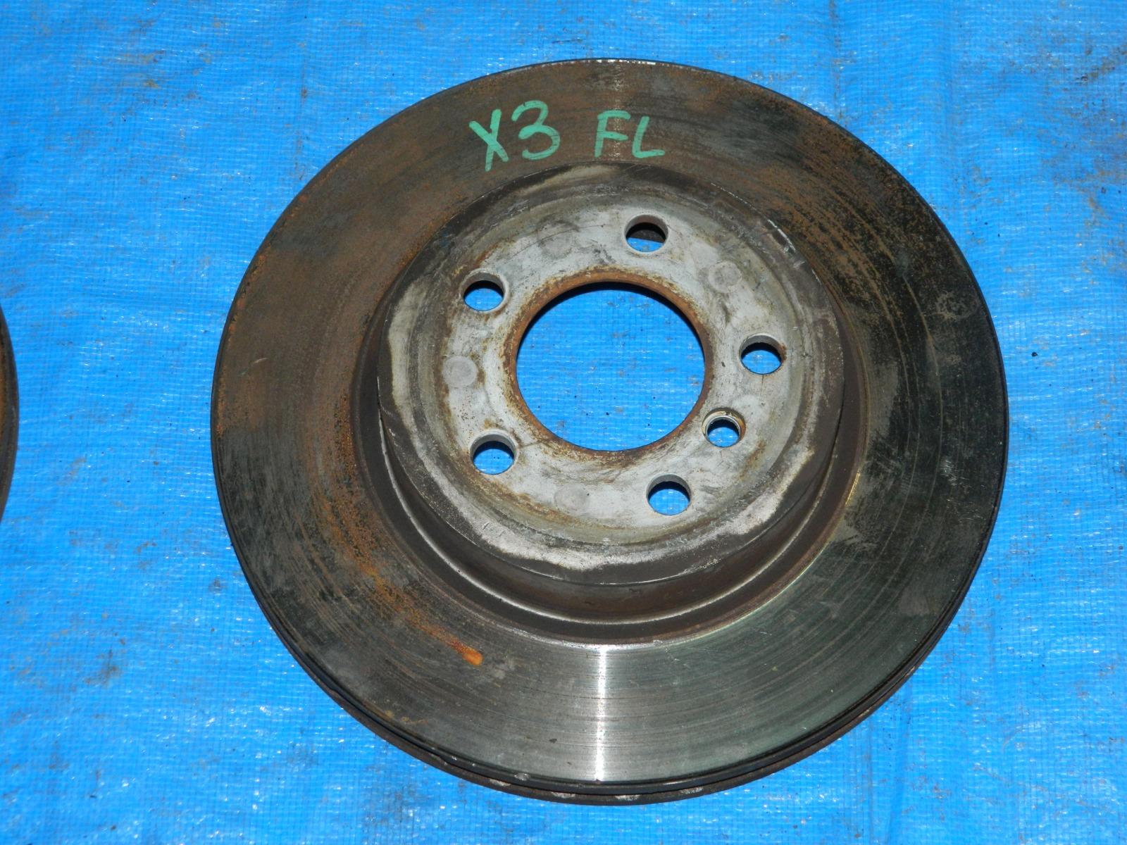 Тормозной диск Bmw X3 передний левый (б/у)