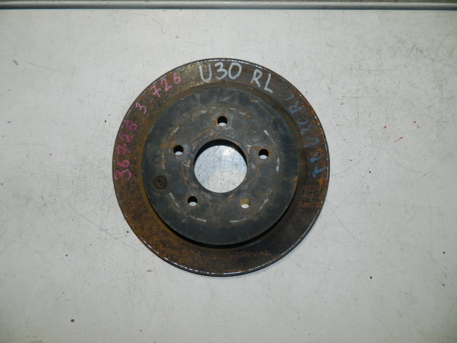 Тормозной диск Nissan Presage U30 задний (б/у)