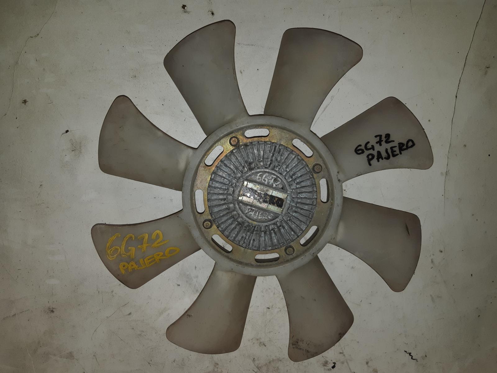 Вискомуфта с вентилятором Mitsubishi Pajero 6G72 (б/у)