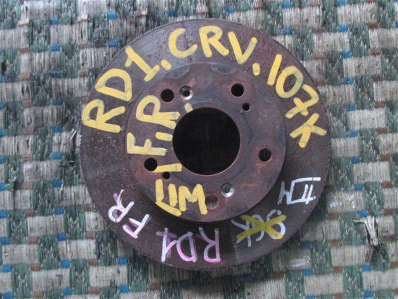 Тормозной диск Honda Crv RD1 передний правый (б/у)