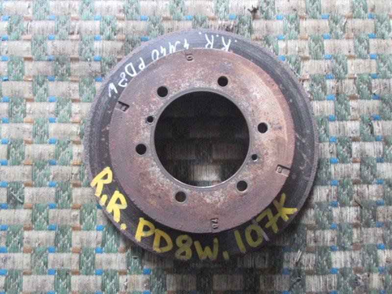 Тормозной диск Mitsubishi Delica PD8W задний правый (б/у)