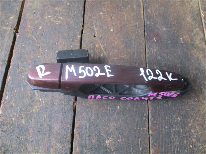 Ручка двери внешняя Toyota Passo Sette M502E передняя правая (б/у)