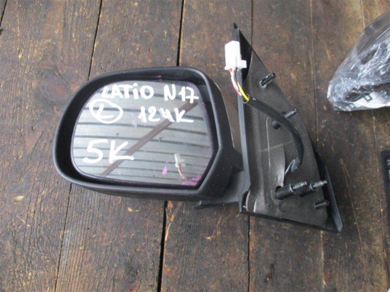 Зеркало Nissan Latio N17 левое (б/у)