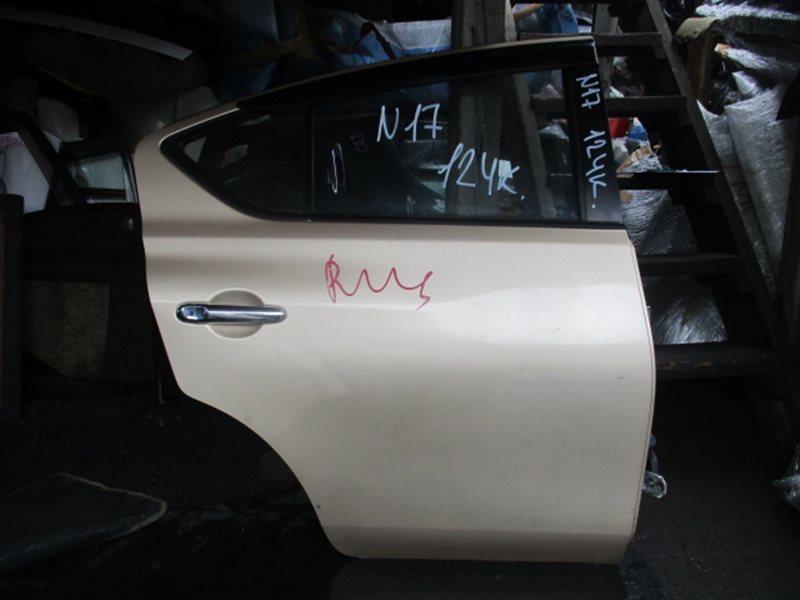 Дверь Nissan Latio N17 задняя правая (б/у)