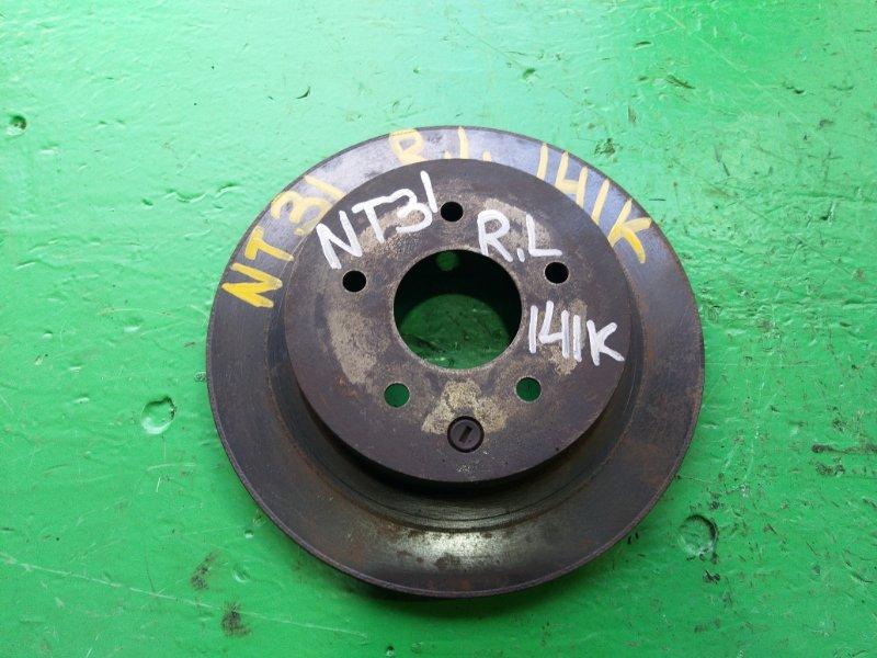 Тормозной диск Nissan Xtrail NT31 задний левый (б/у)