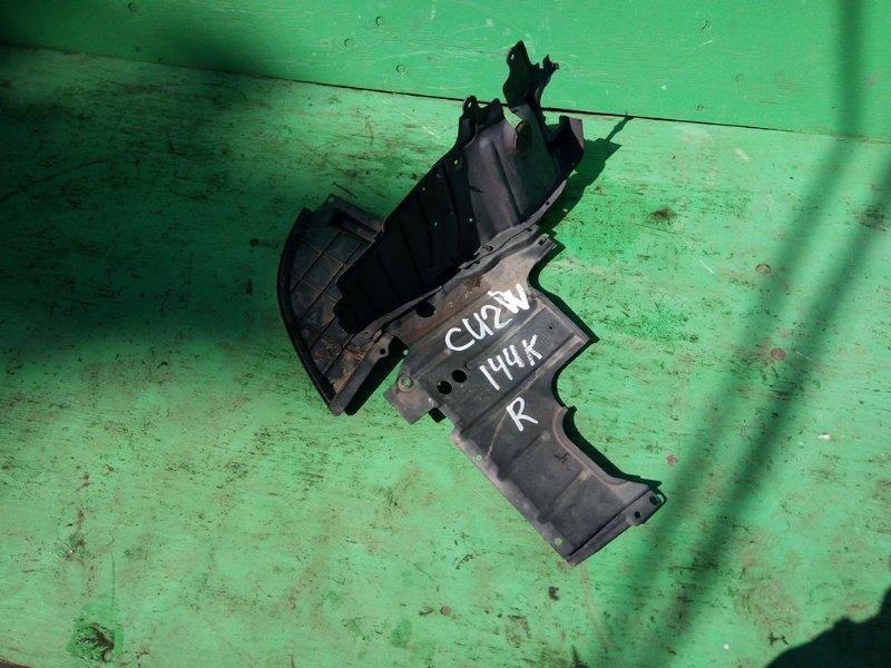 Защита двигателя Mitsubishi Airtrek CU2W передняя правая (б/у)