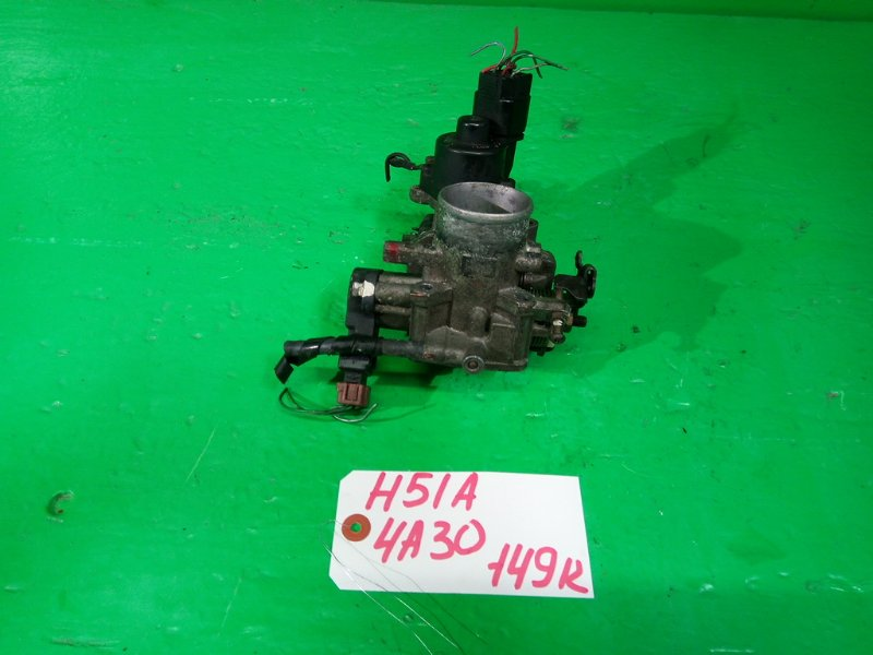 Дроссельная заслонка Mitsubishi Pajero Mini H51A 4A30 (б/у)