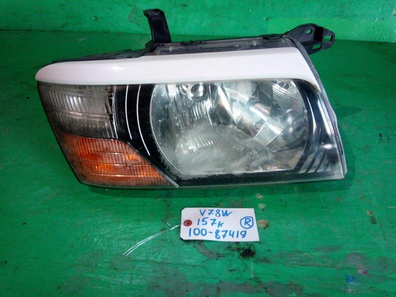 Фара Mitsubishi Pajero V78W правая (б/у)
