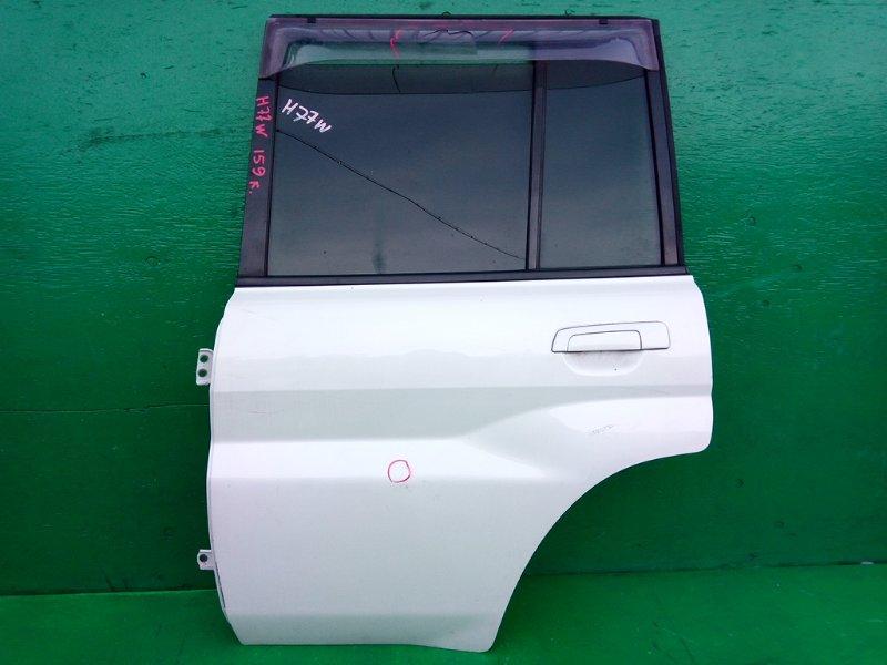 Дверь Mitsubishi Pajero Io H77W задняя левая (б/у)