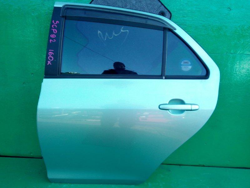 Дверь Toyota Belta SCP92 задняя левая (б/у)