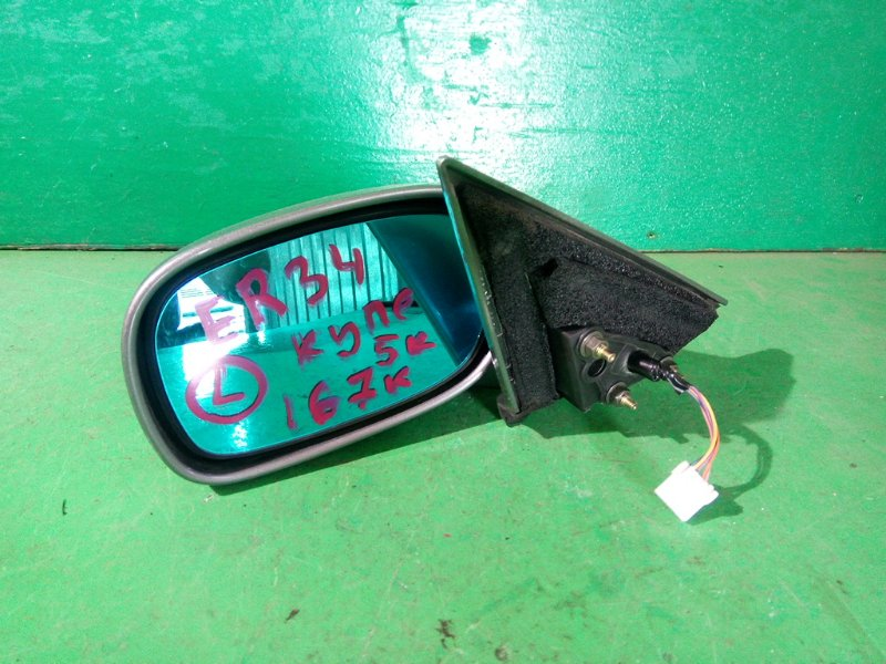 Зеркало Nissan Skyline R34 левое (б/у)