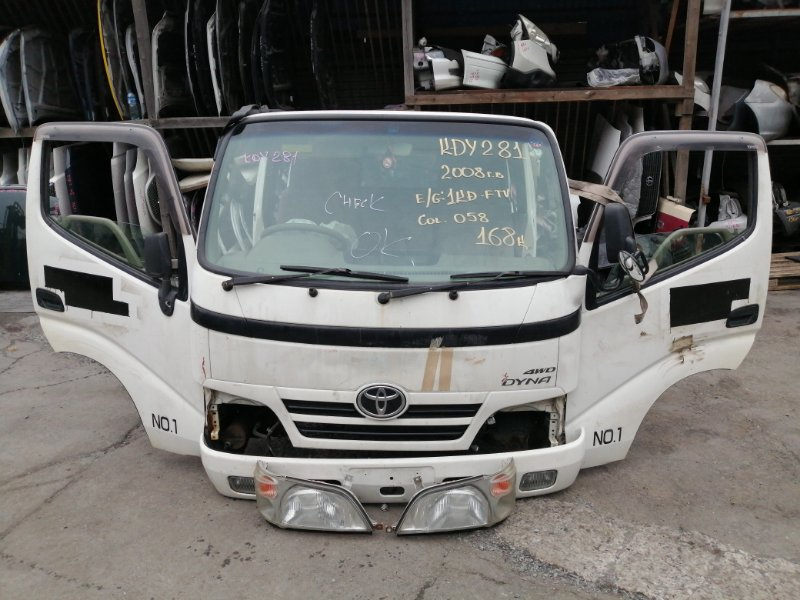 Кабина Toyota Dyna KDY281 1KD-FTV 2008 (б/у)