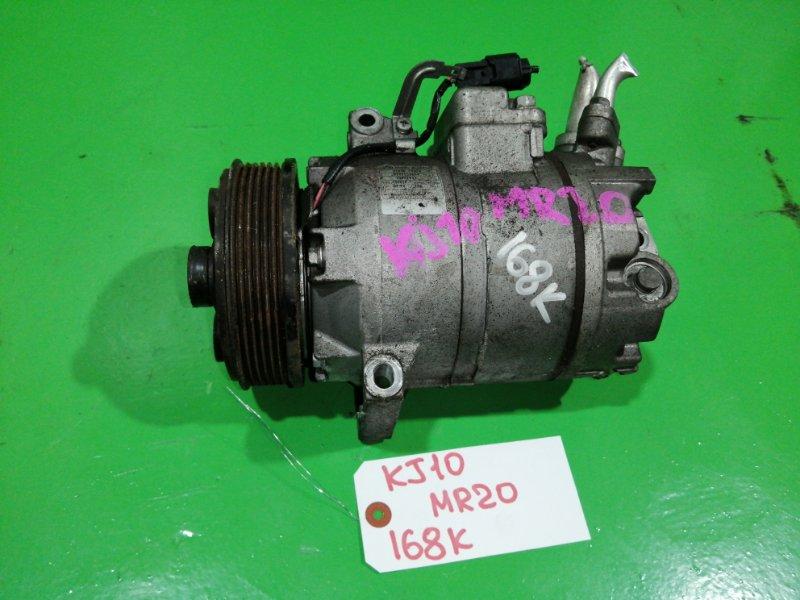 Компрессор кондиционера Nissan Dualis KJ10 MR20 (б/у)