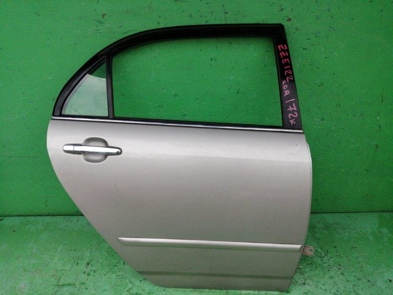 Дверь Toyota Corolla ZZE122 задняя правая (б/у)