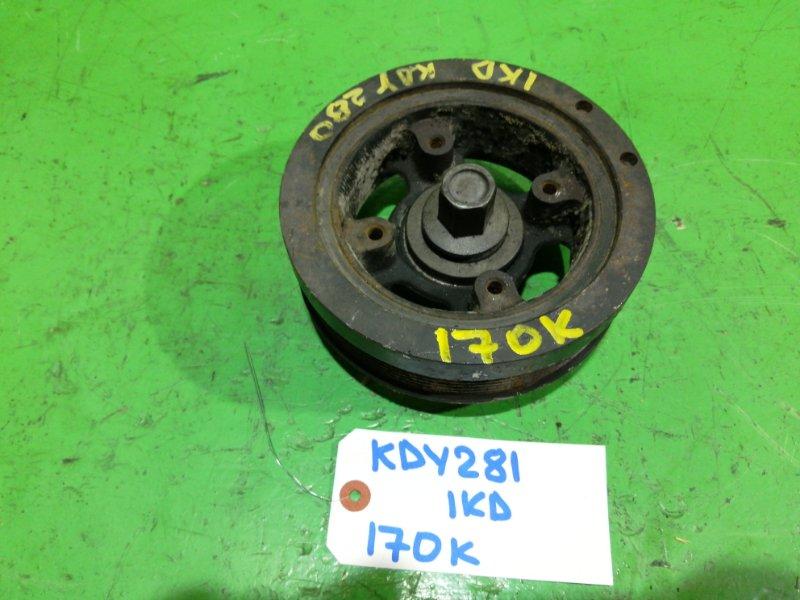Шкив коленвала Toyota Dyna KDY281 1KD-FTV (б/у)