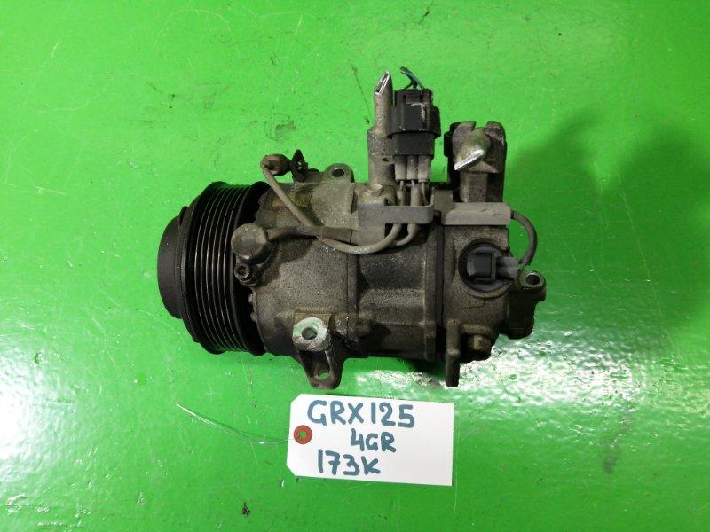 Компрессор кондиционера Toyota Mark X GRX125 4GR-FSE (б/у)