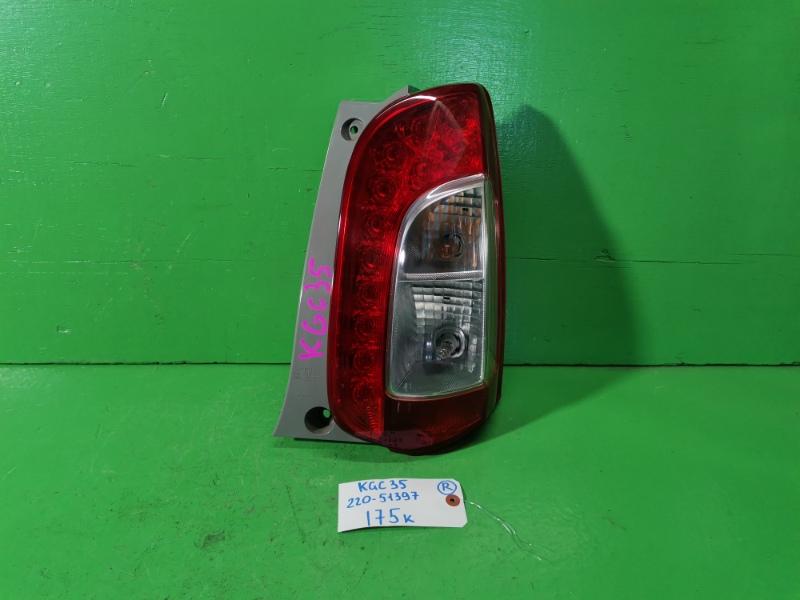 Стоп-сигнал Toyota Passo KGC35 правый (б/у)