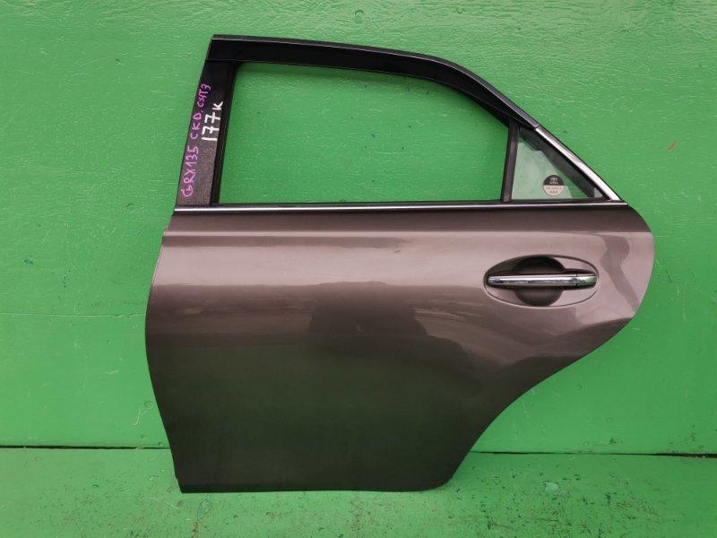Дверь Toyota Mark X GRX135 задняя левая (б/у)