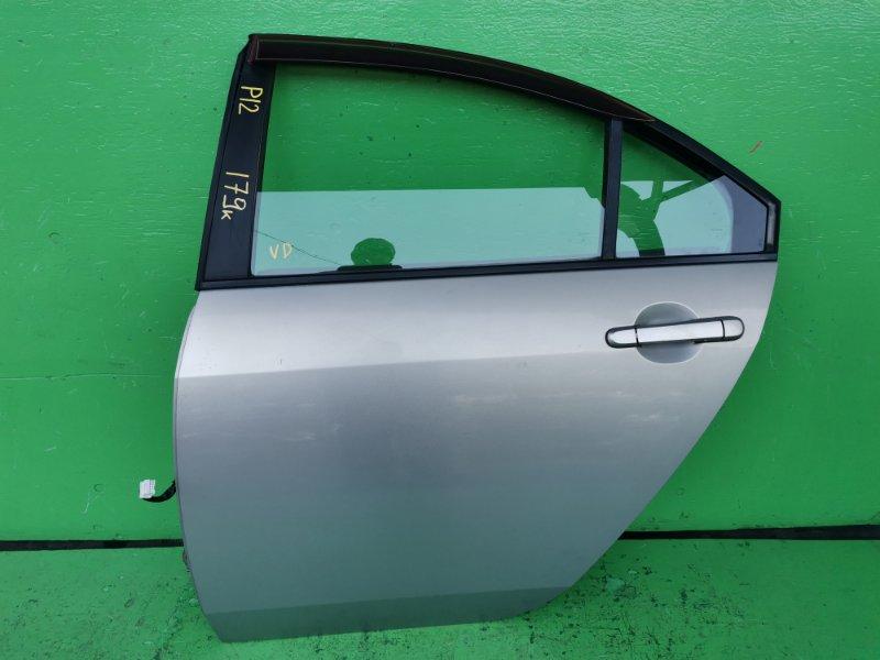 Дверь Nissan Primera P12 2003 задняя левая (б/у)