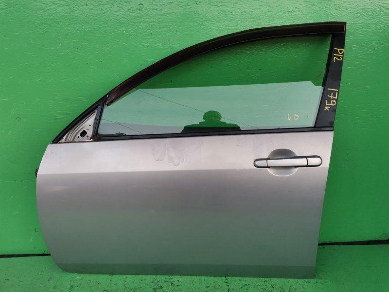 Дверь Nissan Primera P12 передняя левая (б/у)